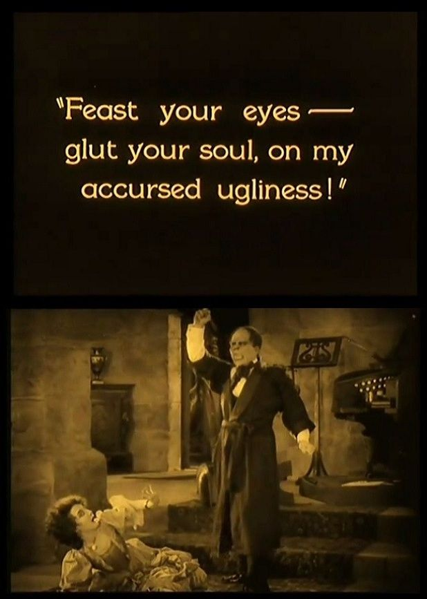 Lon Chaney & Mary Philbin in The Phantom of the Opera (1925, dir. Rupert Julian)
