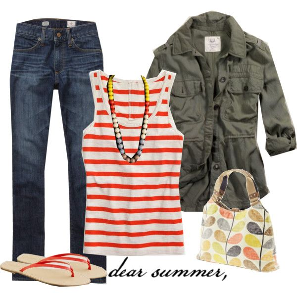 {06.22.11} dear summer,, created by #m3mom on #polyvore. #fashion #style J.Crew American Eagle Outfitters