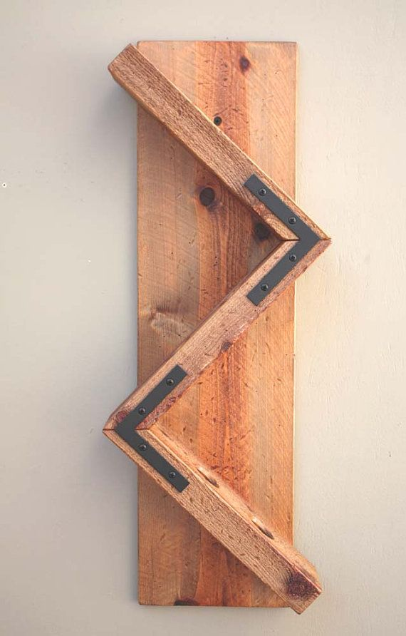 Pared de madera vino botella Rack-hecho a mano por AdliteCreations