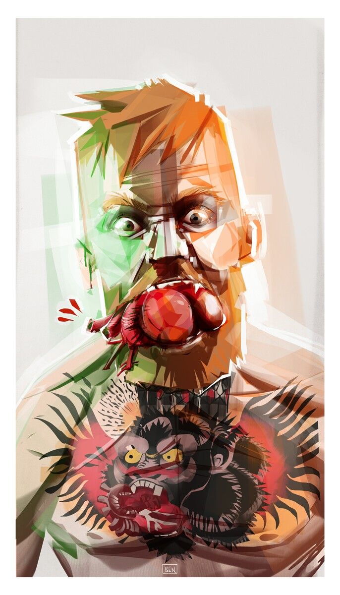 The Notorious Conor McGregor. Illustration digital Ben Olive