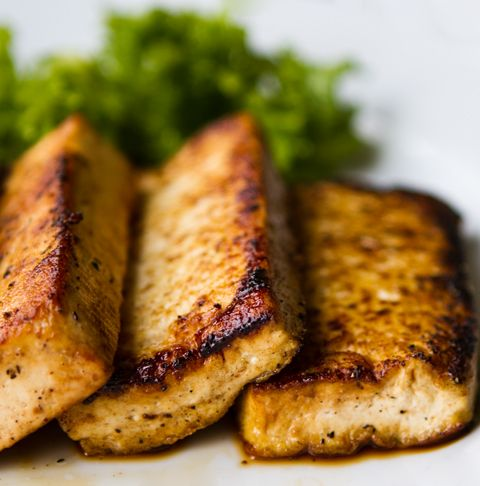 Easy Maple-Tamari Seared Tofu (Great in sandwiches. Can be roasted.)