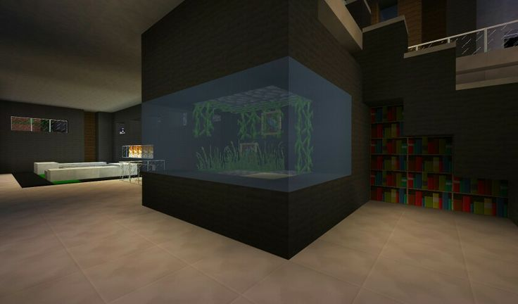 modern fish tank minecraft pinterest fish tanks