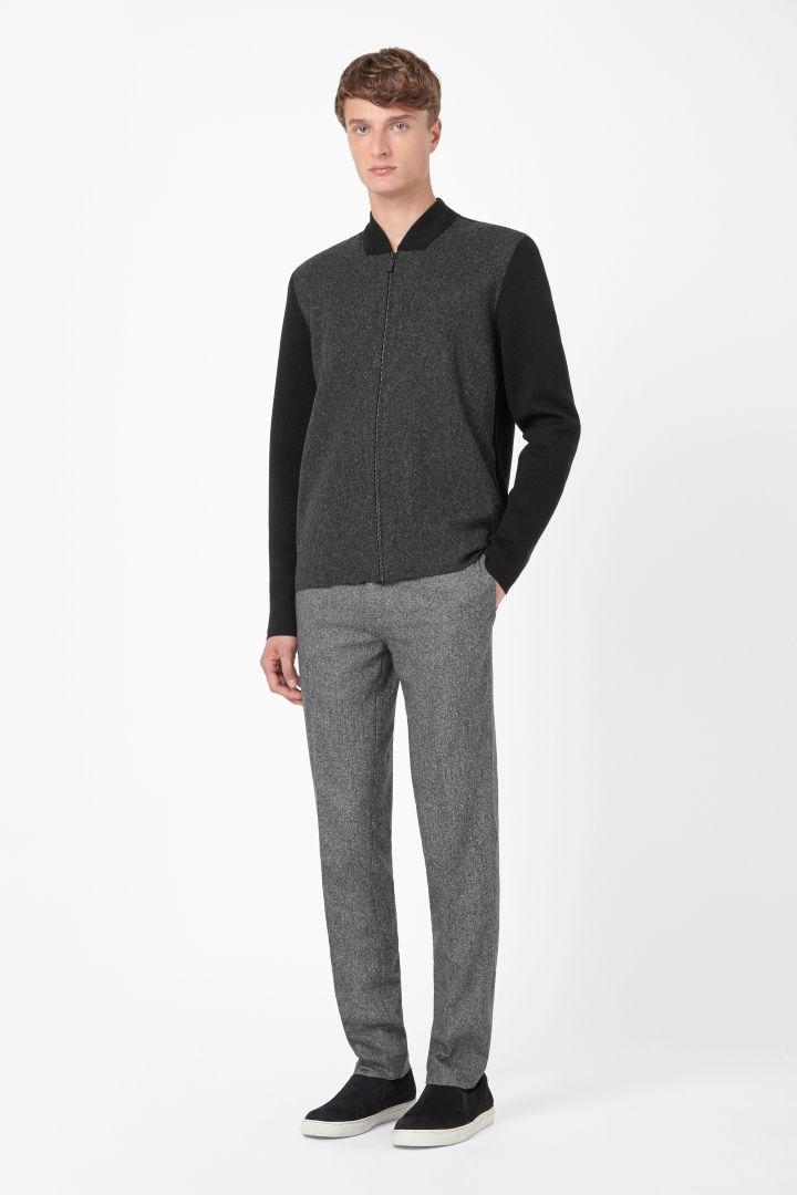 COS   Contrast zip-up cardigan