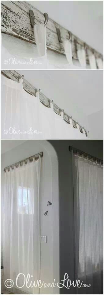 "How to hang curtains | ""Decorate your home. It gives the illusion ..."