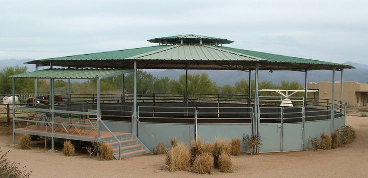 horse barns | ... -horsebarns-horse-barn-Round-Pen-Raised-Dome-horse-barn-XL.jpg