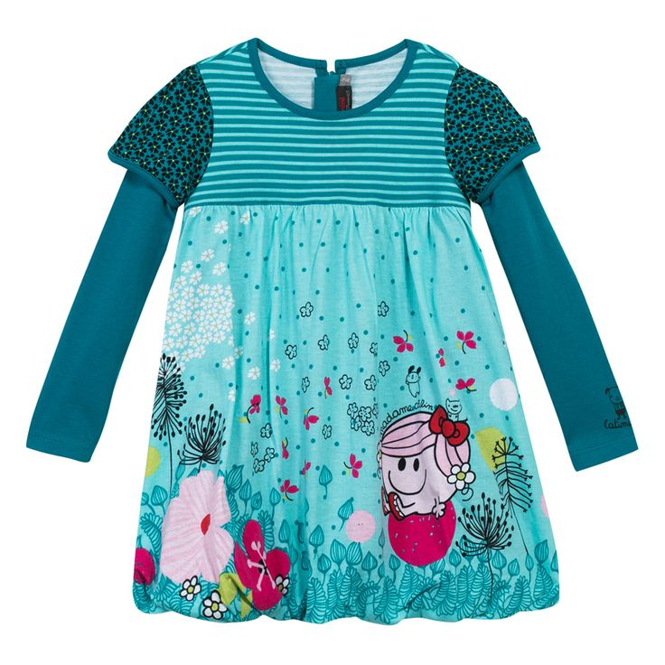 Little Miss Hug' dress Vert d'eau Catimini