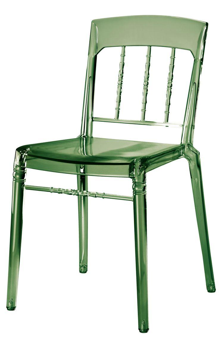 Transparent grön Boxern plaststol. Polykarbonat, plast, stol, köksstol, kök, matsalsstol. http://sweef.se/stolar/93-boxern-stol-i-polykarbonat.html