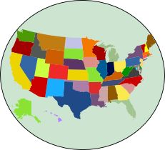 Create your own free custom Map of USA states in 3 easy steps.