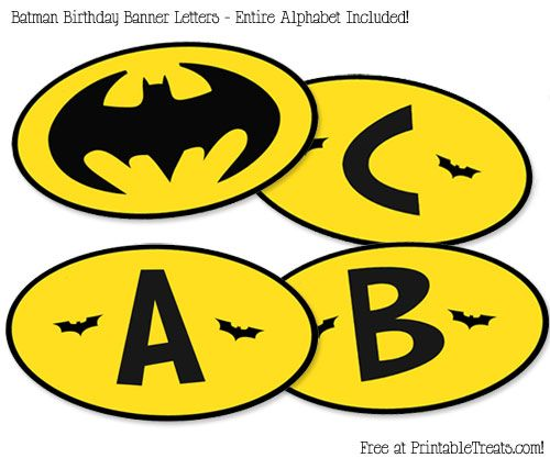 buy Printable      free Printable Free Birthday Banner Batman Treats