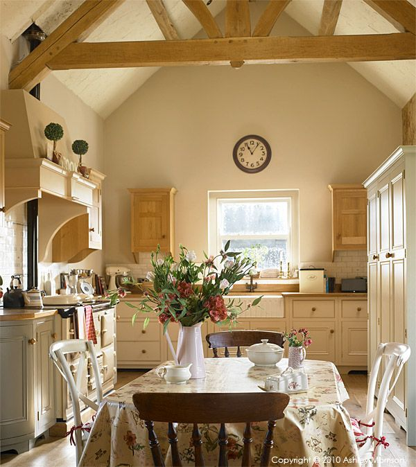 The kitchen table in Sonya & Glen's barn conversion near Donaghadee in County Down.