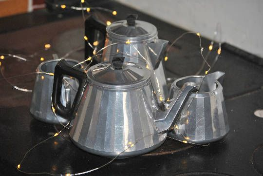 """A  Distinctive 1950s Art Deco """" Made In England by the Swan Company , Tea  Pot , Coffee Pot,Milk/Creamer Jug and Sugar Bowl Set. Gorgeous. by Joolzandnico on Etsy"""