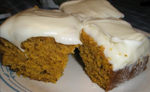 Paula Deen's Pumpkin Bars- I've made them half a dozen times and will never make a different recipe! These are the best! :)