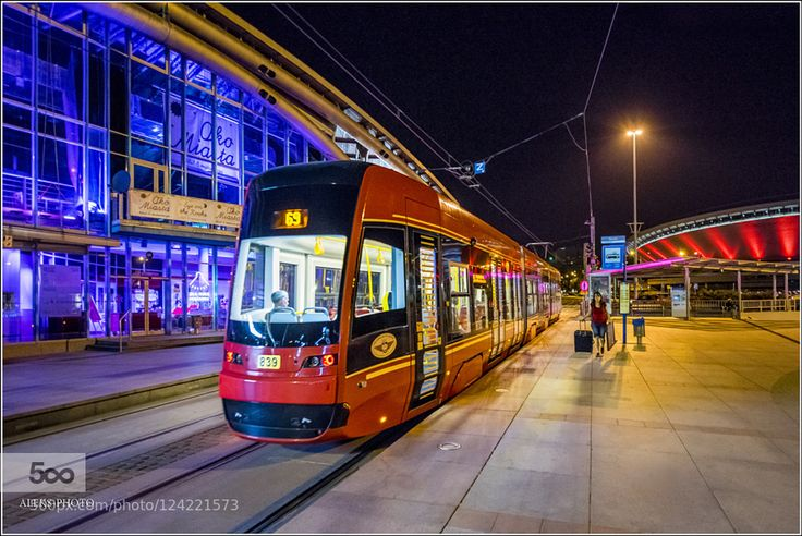 Evening in Katowice (Poland) by AlexanderTomilin. Please Like http://fb.me/go4photos and Follow @go4fotos Thank You. :-)