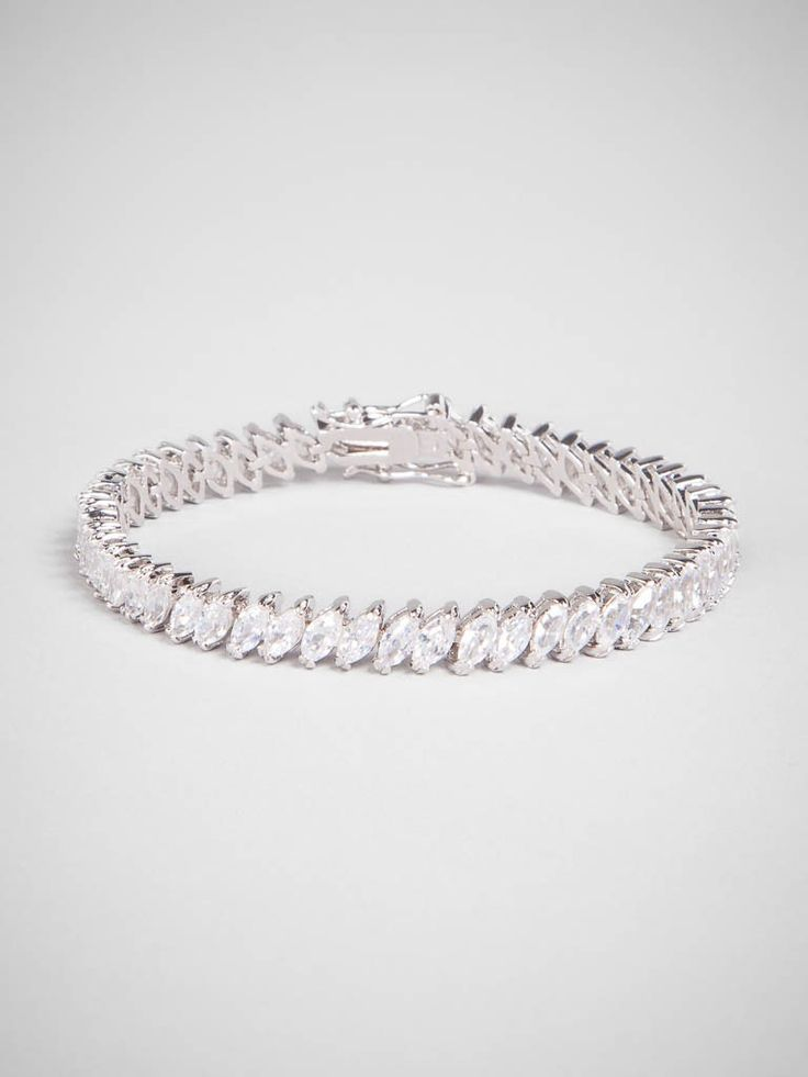 an elegant update to the go-to tennis bracelet