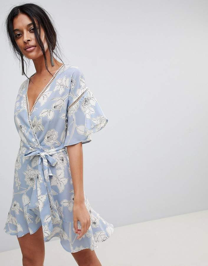 c90c47657929 Moon River Floral Wrap Dress The most gorgeous Easter/Spring dress!  #pastels #floral #flowy #dress #spring #springfashion