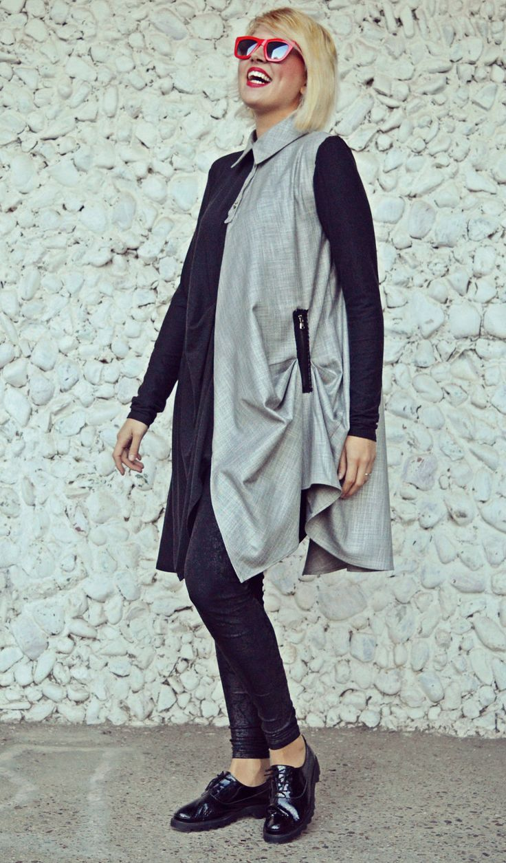 You know you want to buy this 👉 Funky Asymmetrical Tunic / Charcoal Jersey Long Tunic / Extravagant Linen and Wool Jersey Top / Loose Tunic TT100 https://www.etsy.com/listing/475548320/funky-asymmetrical-tunic-charcoal-jersey?utm_campaign=crowdfire&utm_content=crowdfire&utm_medium=social&utm_source=pinterest