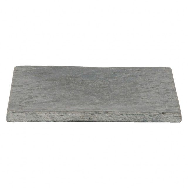 SLATE Grey square candle plate