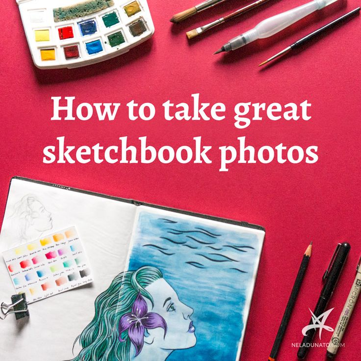 How to take great sketchbook photos