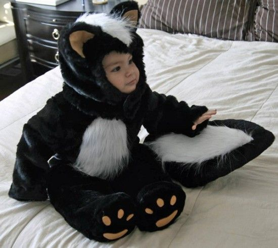 homemade toddler skunk costume discover hauntingly easy ideas for diy kids homemade halloween costumes - Last Minute Toddler Halloween Costumes