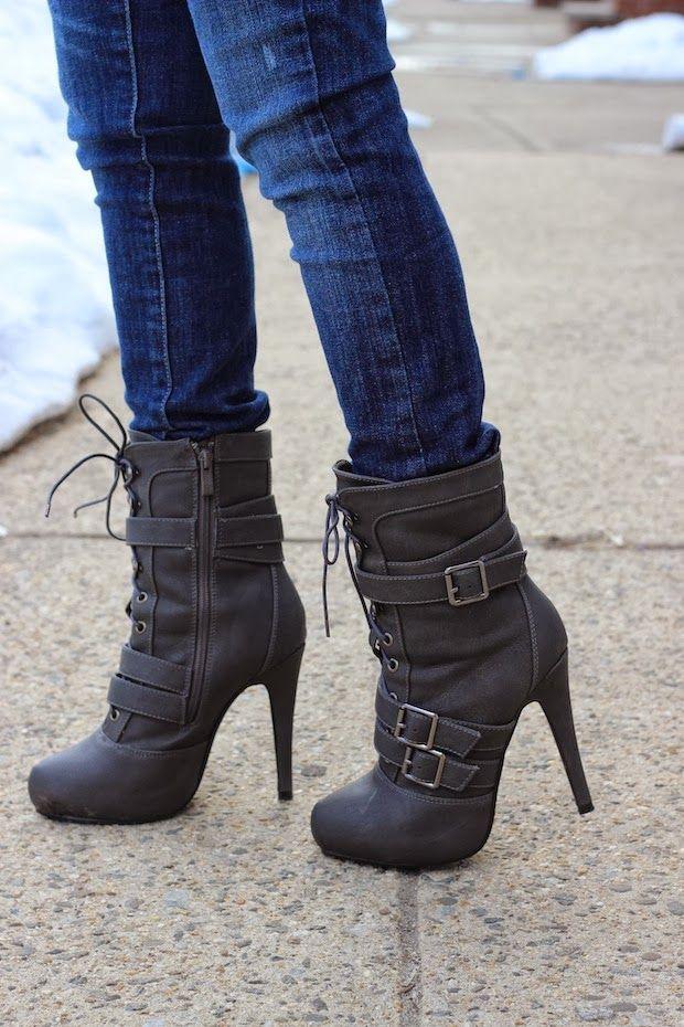 ღ Gone are the days when ankle boots represented only the roughs. Today ankle boots are the new statement for charming beauties. It time to rock when you walk! ღ