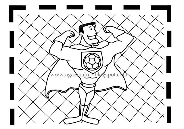 bramkarz, bramka, superbohate, siłacz, piłka ręczna, piłka nożna, bramkarz, osiłek, grafiak, agazmaluje, blog rysunekowy, obraek, ilustracja, cienkopis, akwarela, prezen