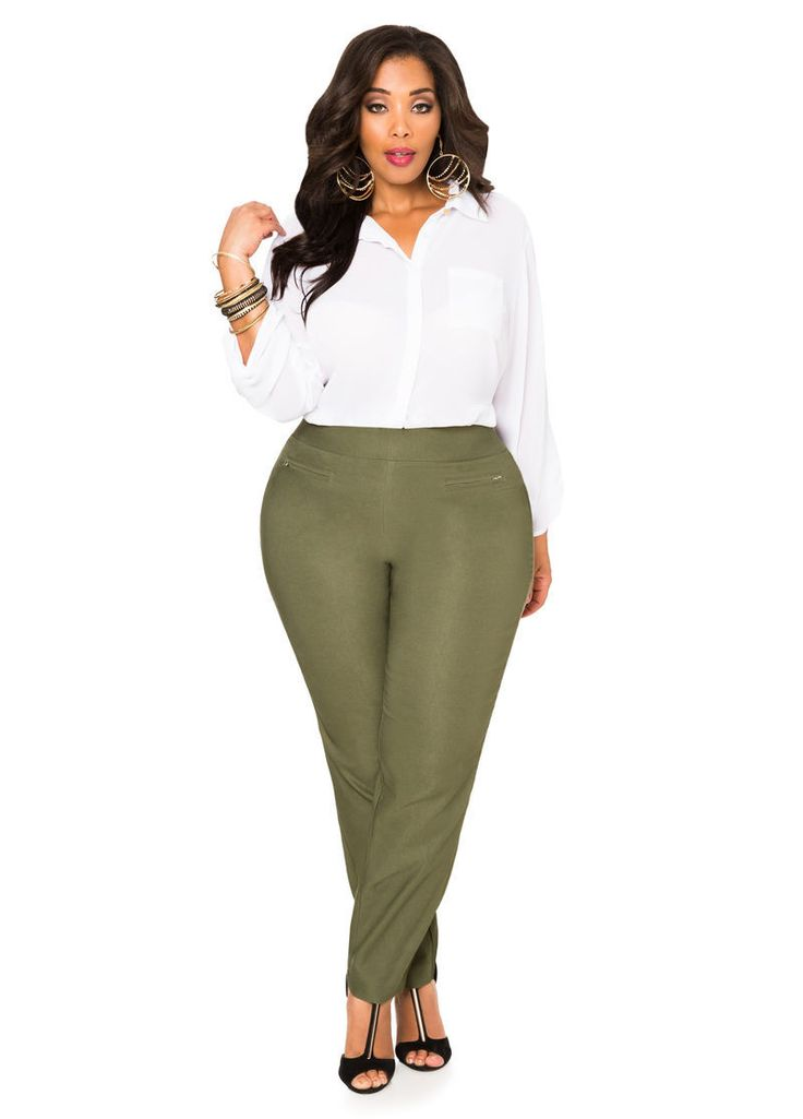 Plus size dress pants for work