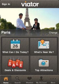 The Viator Tours & Activities App #iPhone #buttons #icons #mobile #ui