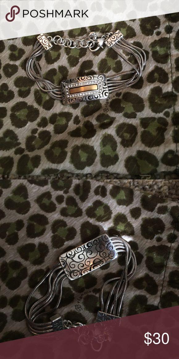 Brighton bracelet Pretty gold and silver. Engraved with swirls. Brighton Jewelry Bracelets
