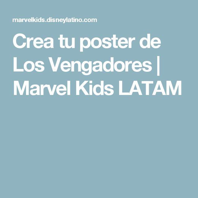 Crea tu poster de Los Vengadores   Marvel Kids LATAM