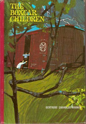 The Boxcar Children by Gertrude Chandler Warner was the first series I read in its entirety after leaving the safety of the library's picture book area. And this was definitely the 1970s cover I remember.  [The Wayback Machine: The Boxcar Children]