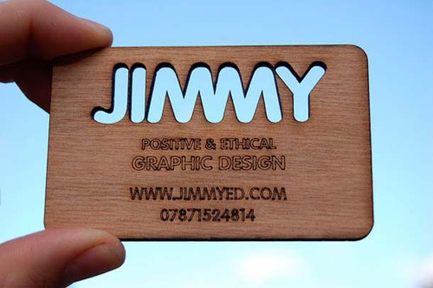 15 Tree-riffic Wooden Business Cards - 3