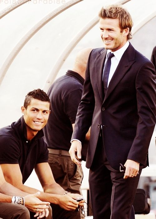 Cristiano Ronaldo + David Beckham <3.  Omg I need to be the filling in this sandwich.