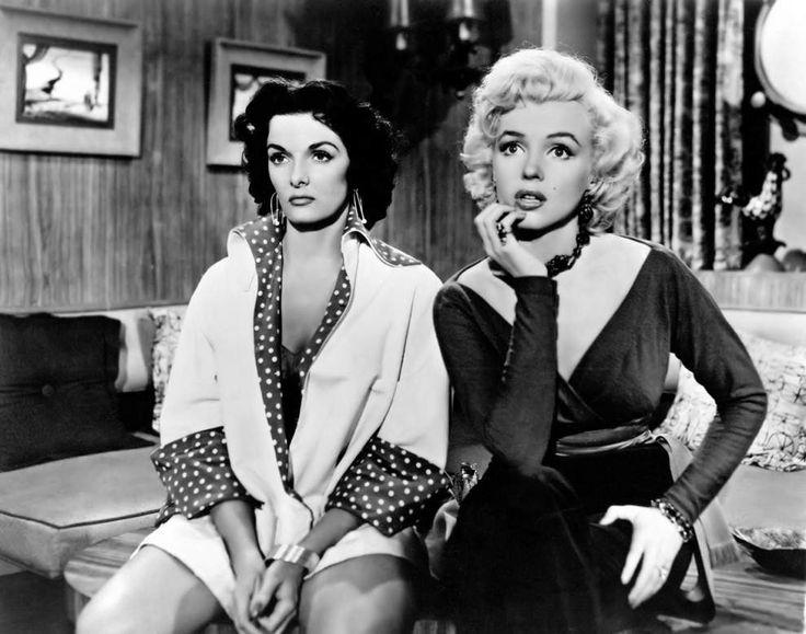 "Marilyn Monroe and Jane Russell appear in Howard Hawks film ""Gentlemen Prefer Blondes,"" 1953."