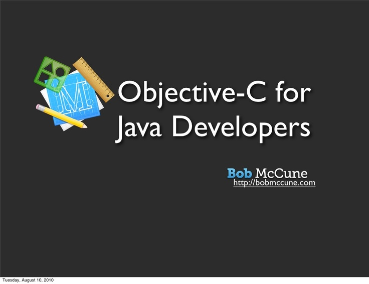 Objective-C for Java Developers