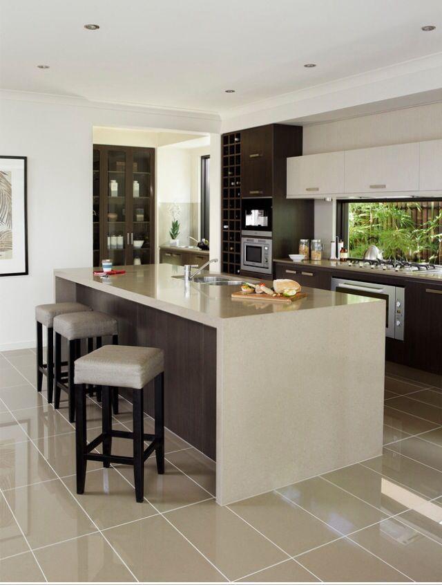 Small Kitchen Island By A Window