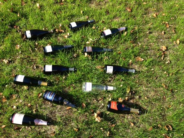 After Halloween Champagne Party in the garden ... www.the-champagne.ch