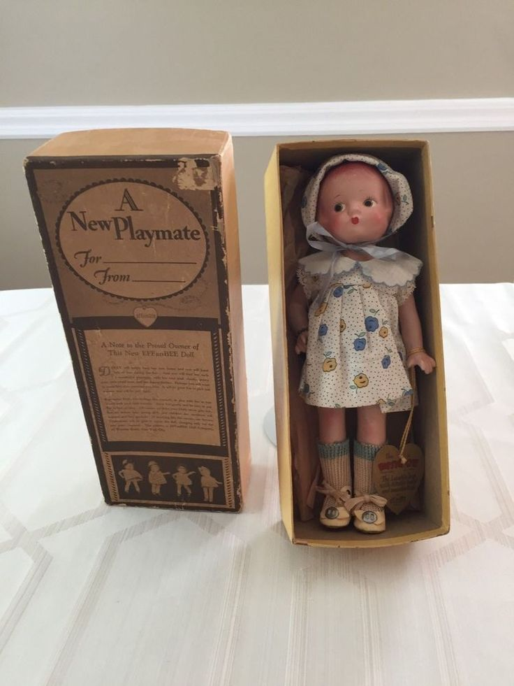 Effanbee Composition Patsyette, Excellent Cond. in Orig. Box, 1930's #Effanbee #Dolls