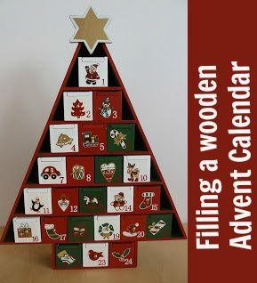 Ideas for filling a wooden Advent calendar - lots of ideas for little gifts and activities that you can use with your Advent calendar