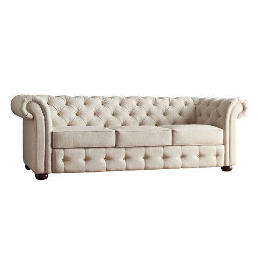 kingstown home carthusia tufted button sofa 835 - Grey Tufted Sofa