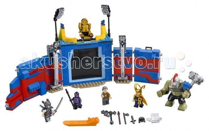 """Конструктор Lego Супер Герои Тор против Халка Бой на арене 492 элемента  Конструктор Lego Супер Герои Тор против Халка Бой на арене 492 элемента 76088 - еще один набор из новинок второго полугодия 2017, в котором главный Супер Герой - Тор. В конце этого года, выйдет в прокат фильм """"Thor: Ragnarok"""" и конечно этот конструктор станет отличным подарком для почитателей этого героя. Набор получился очень красочным с возможностью создавать настоящие боевые баталии внутри арены.  Великий маэстро зла…"""