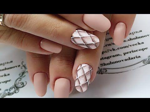 Простой дизайн натуральных ногтей пошагово