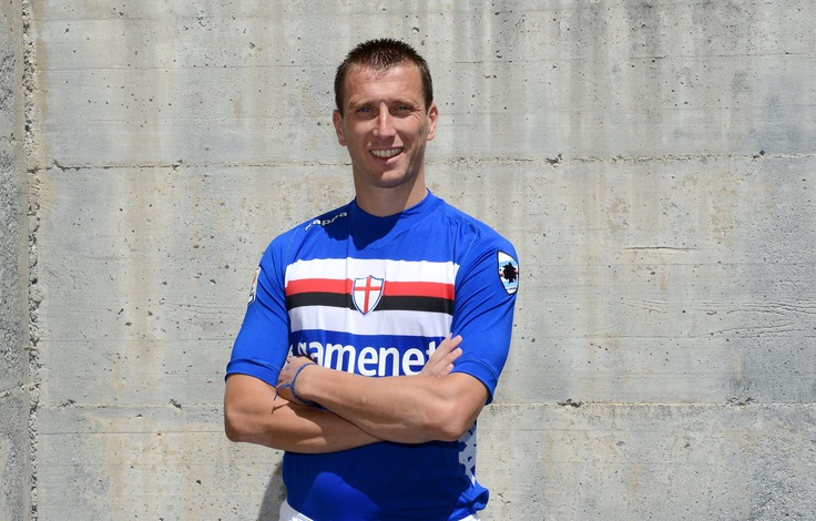 Captain Gastaldello wears new kit U.C. Sampdoria