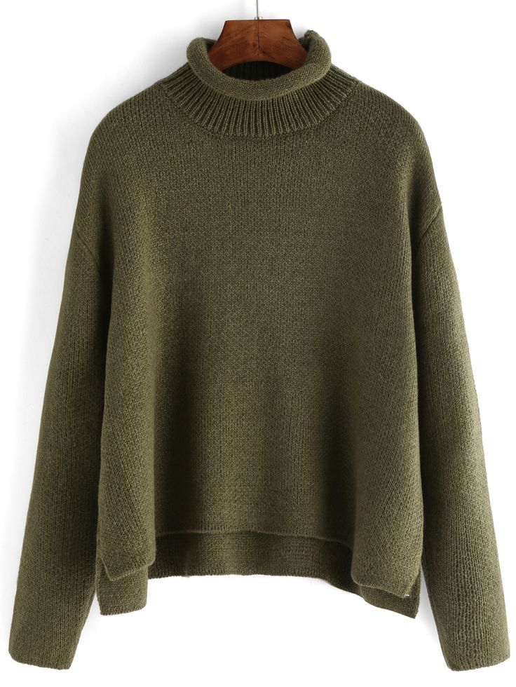 Shop Green Turtle Neck Crop Loose Sweater online. SheIn offers Green Turtle Neck Crop Loose Sweater & more to fit your fashionable needs.