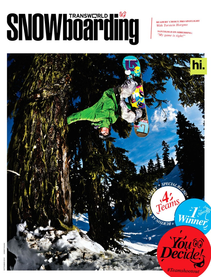 Our girl Kimmy Fasani killing in on the cover. Head here to LIKE the Burton AK team!     Burton AK Team Shoot Out Cover 2012 | Transworld Snowboarding
