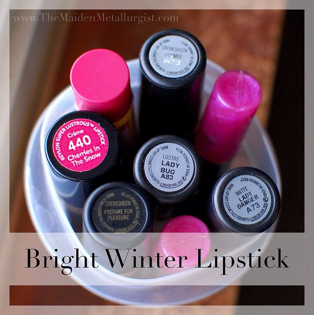 Bright Winter Lipstick by themaidenmetallurgist, via Flickr