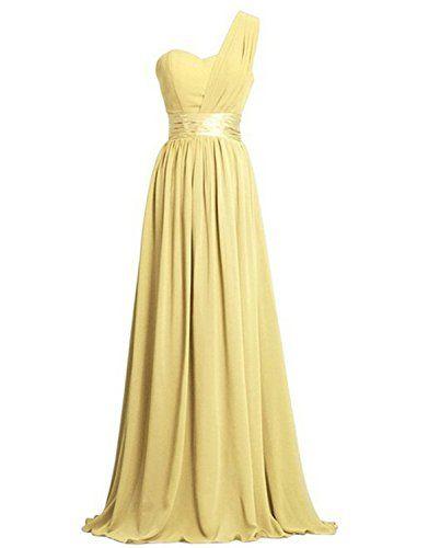Tessuto del vestito è chiffon. Completamente foderato, built-in reggiseno corpetto, la parte posteriore è cerniera Un sacco di colori tra cui scegliere, perfetto per le damigelle d'onore alle feste, è un abito da sera o un cocktail 100% Chiffon