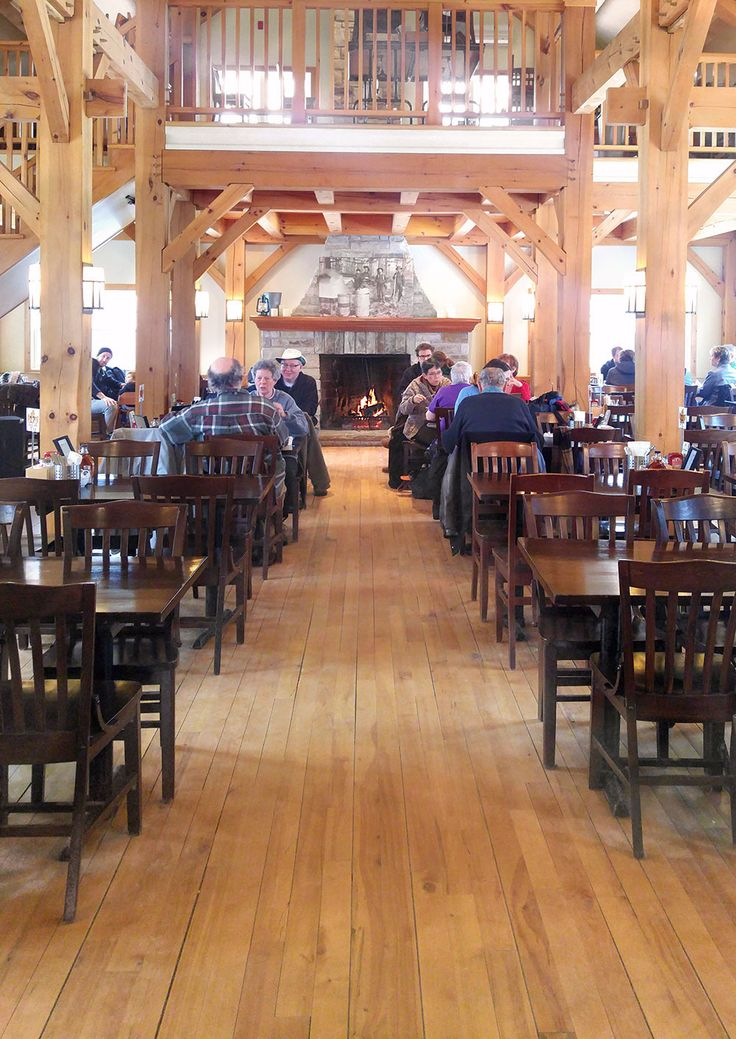 Customers enjoying their meal at Temple's Sugar Bush. Can you tell that they all want to sit close to the stone fireplace?!  Venue: www.templessugarbush.ca Photo Credit: http://www.stephaniewhite.style/bring-on-the-maple-at-temples-sugar-bush/