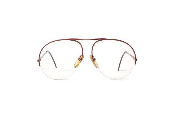 Cult Vintage red Aviator Hipster mens woman Eyewear Frame 1980 Metall Gestell…