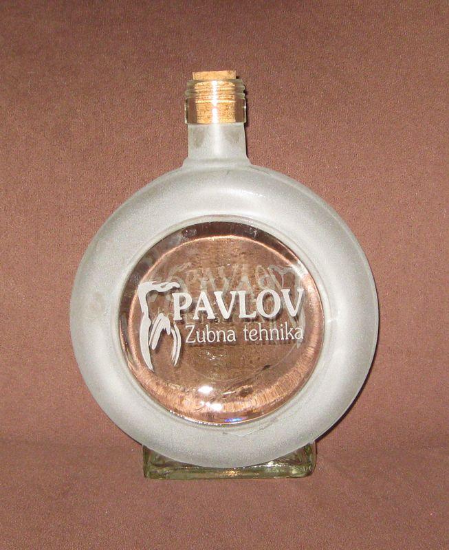Sandblasted bottle