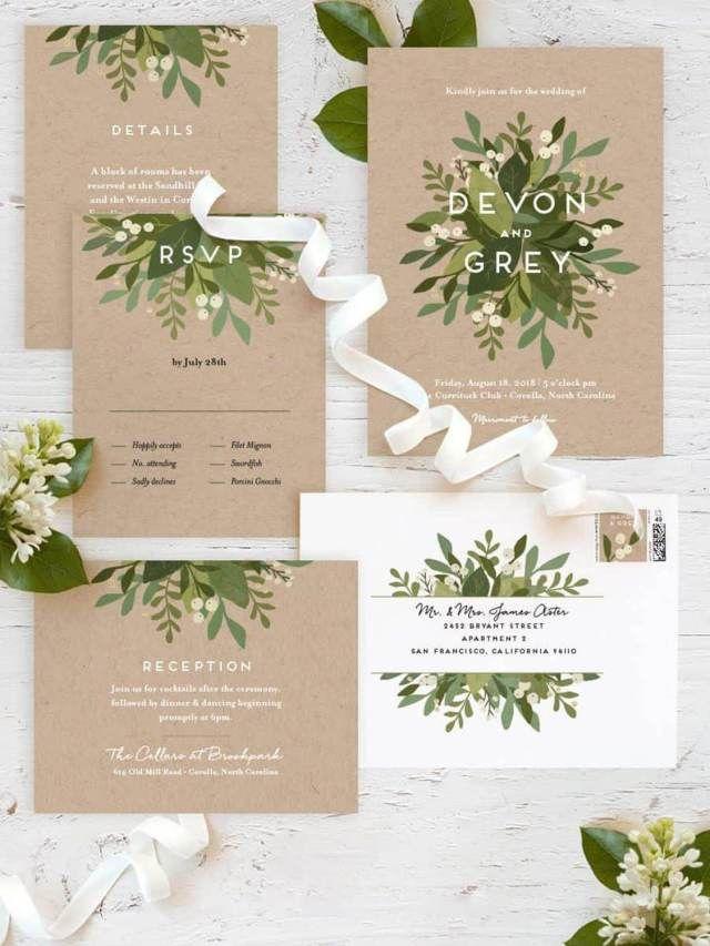 Spring Themed Wedding Invitations Ideas